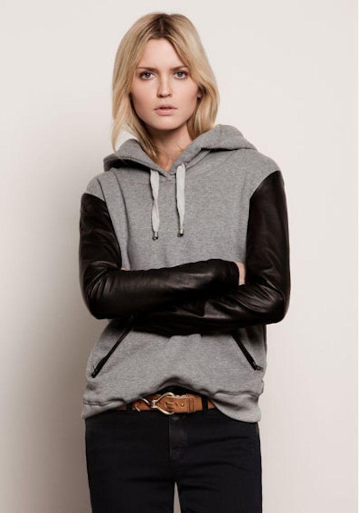 dayum >> hoodie with leather sleevesLeather Sleeve, Style, Fashion Sweatshirts, Diy Leather Clothing, Leather Sweatshirts, Sweatshirts Leather, Fall Outfit, Hoodie Sweatshirts, Sleeve Sweatshirts