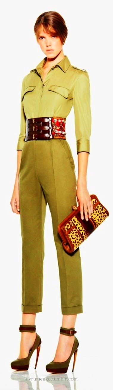 silk/linen capri trousers + belt + clutch love the belt!!!