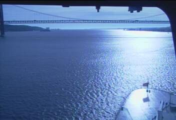 Queen Mary 2 - Bridge (Forward) Webcam / Camera7.46 pm Tagus river bridge