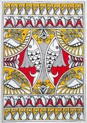 Image result for fish madhubani paintings
