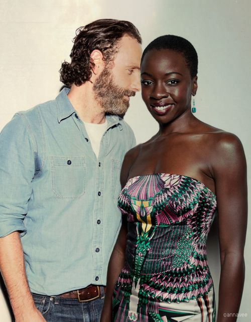 Andrew Lincoln And Danai Gurira Walking Dead The W