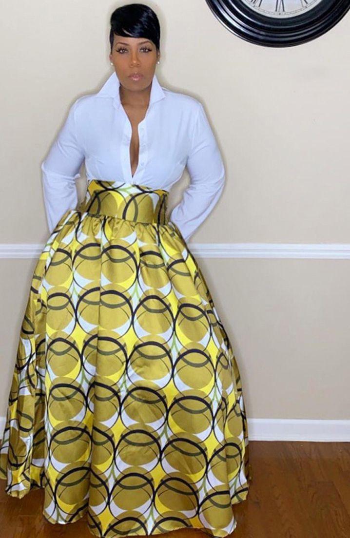 APART Fashion Printed Skirt Falda para Mujer