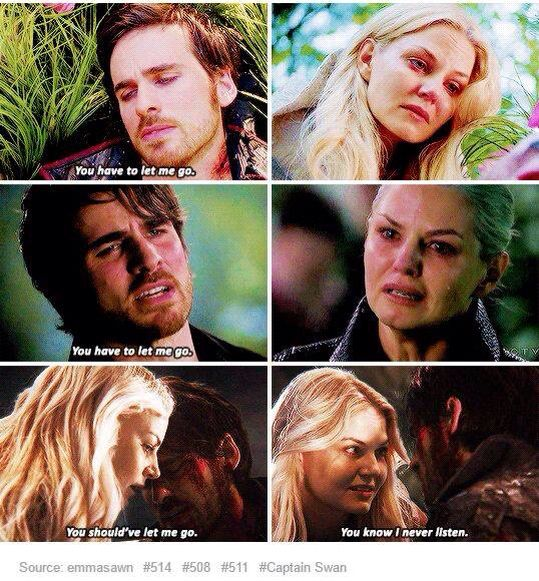 "Captain Swan ""I never listen"""