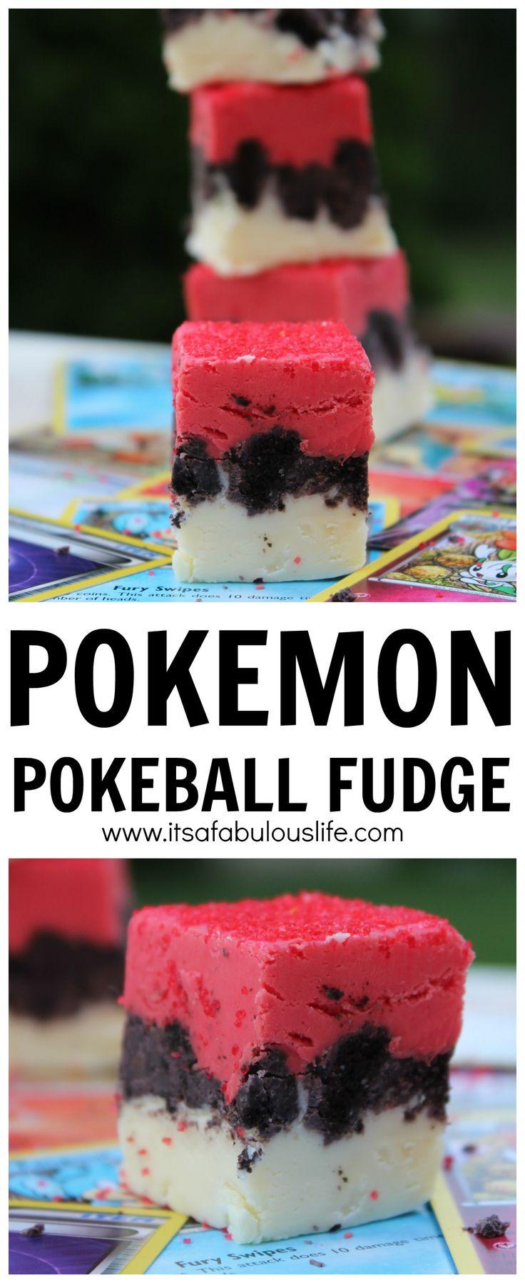 Pokemon Pokeball Oreo Fudge - SO easy to make!!