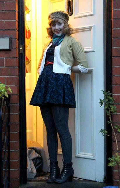 knitwear, berets and vintage winter wear