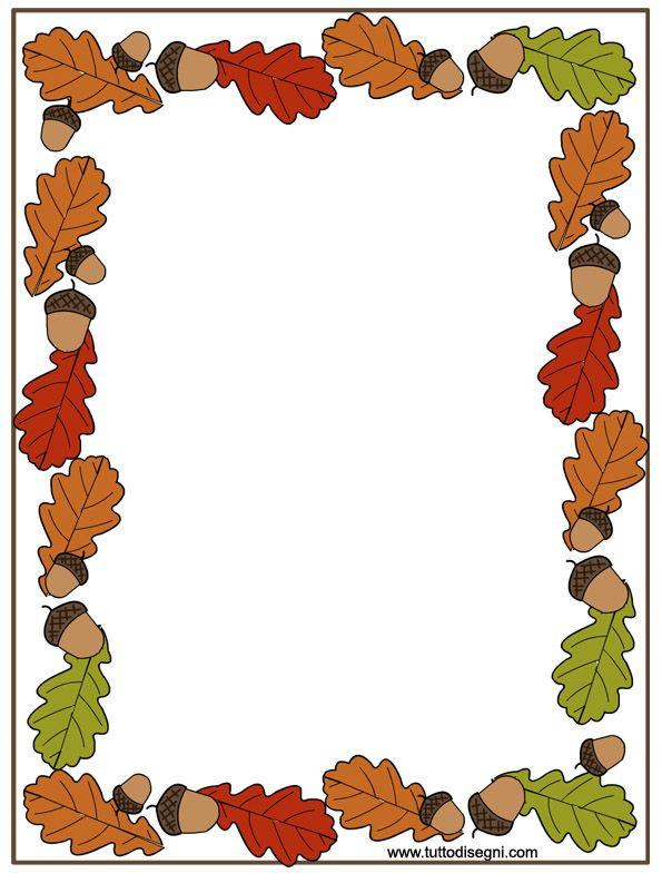 Cornicetta autunno per quaderno