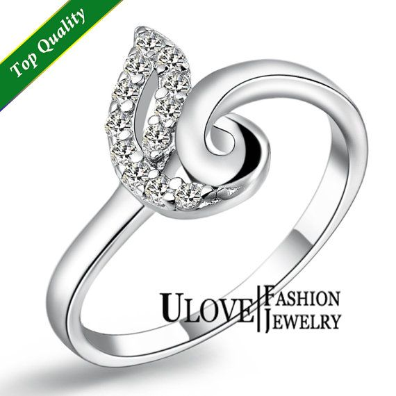 Unique Engagement Rings Silver by UloveFashionJewelry on Etsy, $8.49
