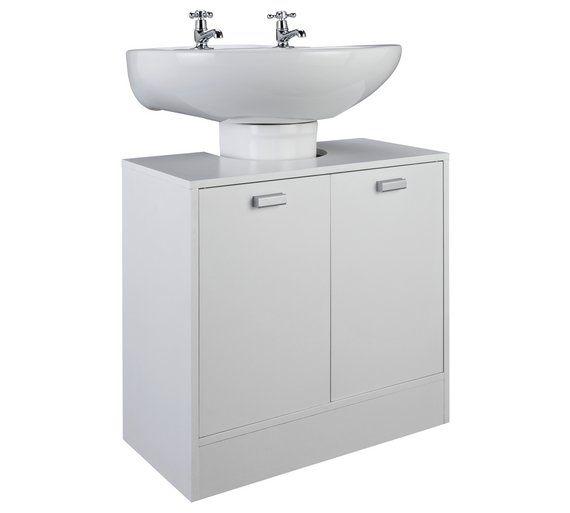 Buy Hygena Prime Undersink Storage Unit White At Argos Co Uk Visit Argos Co Uk To Shop Online F Bathroom Shelves White Bathroom Shelves Bathroom Shelf Decor