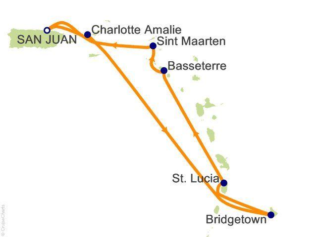 7 Night Southern Caribbean Cruise on Carnival Valor from San Juan sailing April 7, 2013 on CheapCaribbean.com