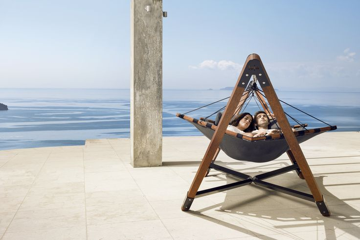 Built from top-to-toe with only the best quality marine components, kwila hardwood, powder-coated aluminum, high-performance Sunbrella® fabrics and soft Dacron® fiber padding #luxuryhammock #putlifeonpause #lujo