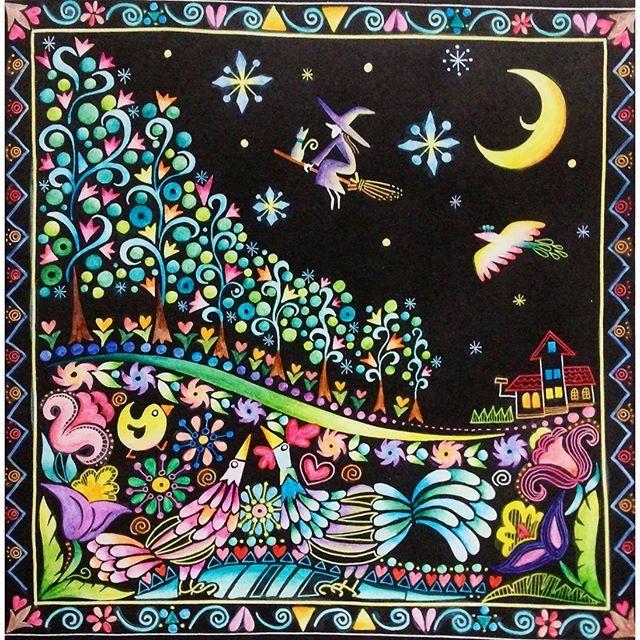 Instagram media antique_luv - やっとこさ完成色が決められないとなかなか進まない性格です(・ω・;A) 魔女と猫がお気に入り ALL水彩色鉛筆です  #大人の塗り絵 #大人のぬりえ #塗り絵 #コロリアージュ #世界一周ぬり絵の旅 #色鉛筆 #水彩色鉛筆 #水彩色鉛筆初心者 #coloriage #staedtler #カランダッシュ #スプラカラー #スプラカラーソフト #carandache #supracolor #ステッドラー #karat #coloriage  #coloring #coloringbook #adultcoloring #adultcoloringbook #coloringforadults #colorepencil #colorful #coloringbooks