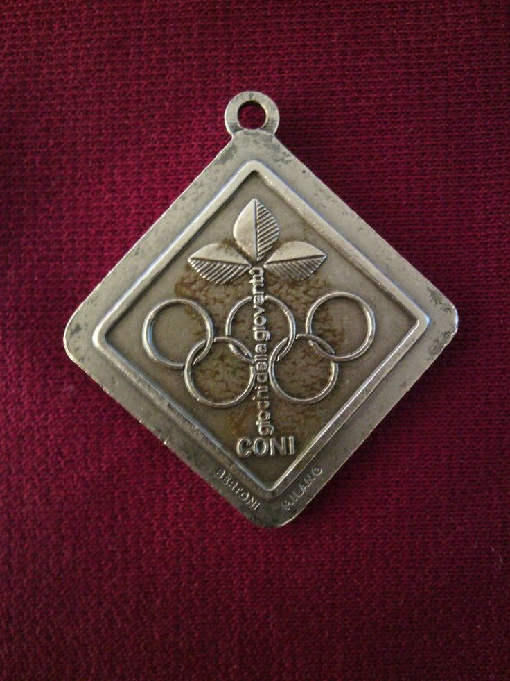 Italian National Olympic Committee Medal CONI & FIGC Football Fed. Youth games