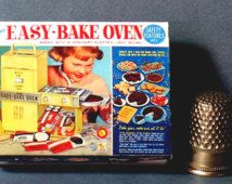 Easy Bake Oven Box 1964 - Dollhouse Miniature - 1:12 scale - Dollhouse accessory  - 1960s Dollhouse girl toy box - Miniature box replica