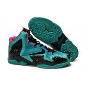 Cheap Lebron 11 Blue Black Pink Shoes $107.90  http://www.blackonshoes.com