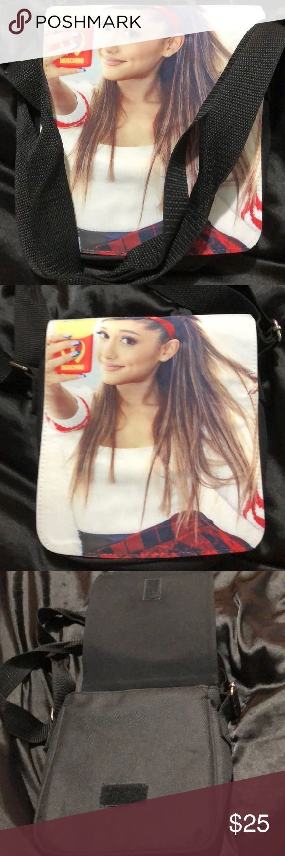 Ariana grande cross bag Not a lot of these bags made, but this ones available! New used once in Vegas other than that it's brand new! Ariana Grande Bags Crossbody Bags