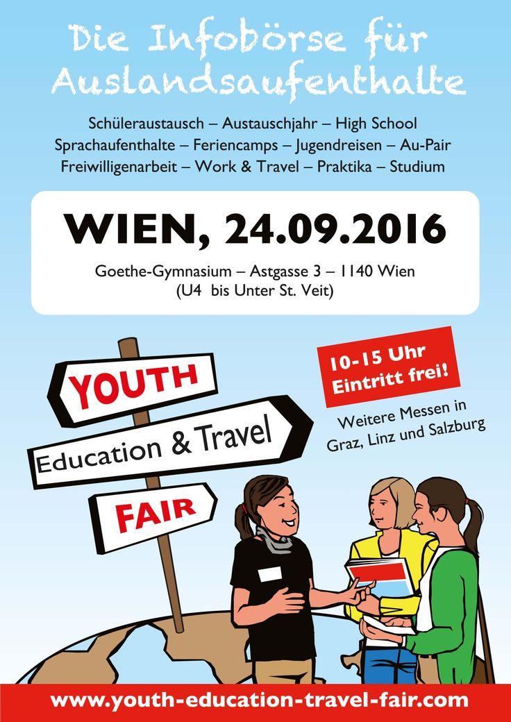 Youth Education & Travel Fair in #Wien am 24. September 2016 #Österreich #Reisen #Schüler