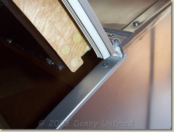 Another View Of The Hinge And The Ribbed Weather Stripping