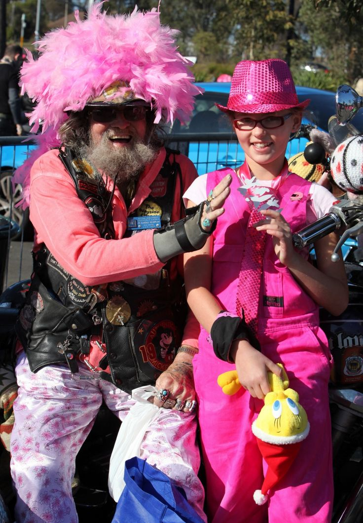 Always a character or two to be seen at The Pink Ribbon Ride!