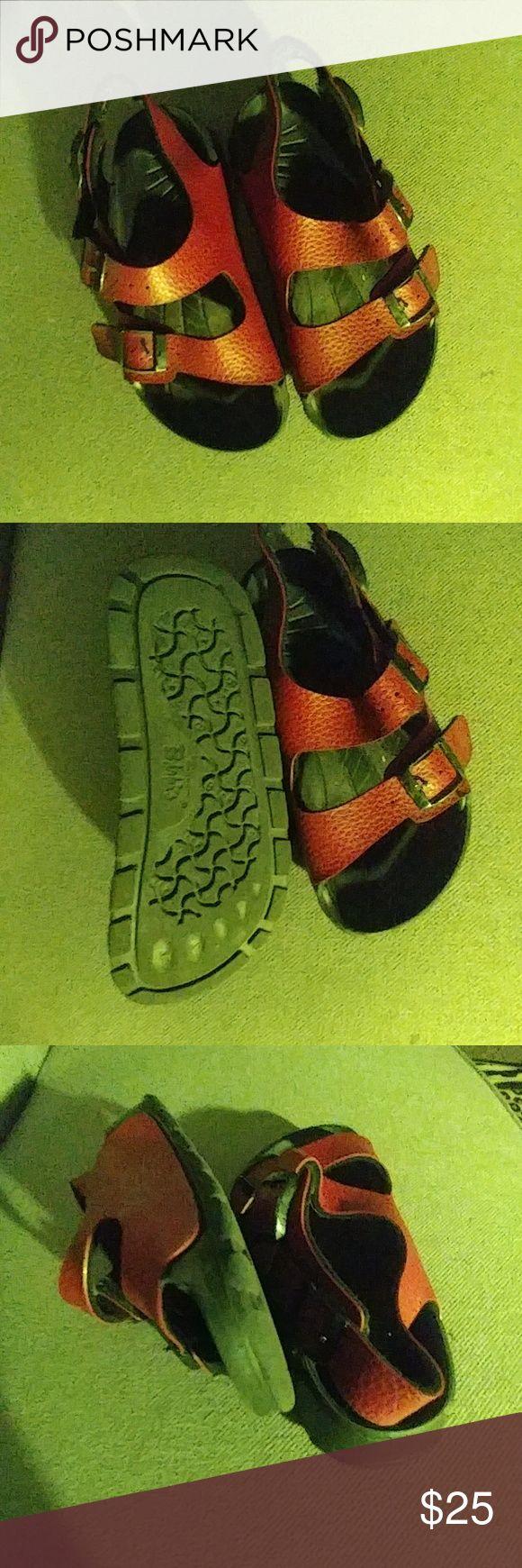 Birki  Sandals Kids Red Birki unisex good condition Birkenstock Shoes Sandals & Flip Flops