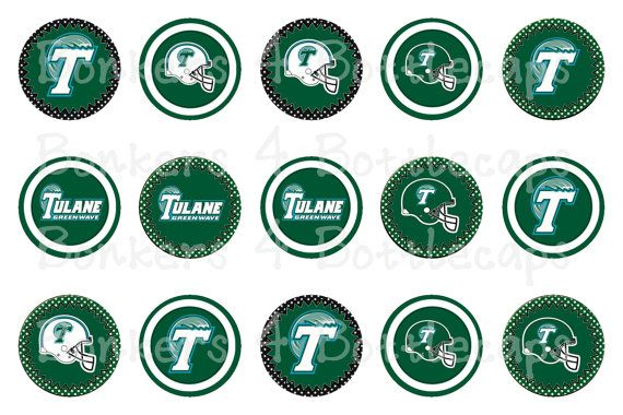INSTANT DOWNLOAD Tulane Green Wave Tulane University 4x6 Bottle Cap Images Bottlecap NCAA Football Logo Inspired