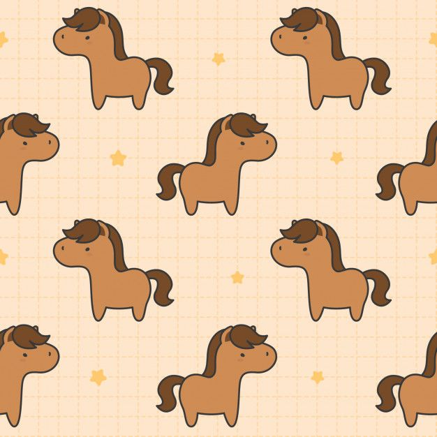 Cute Horse Seamless Pattern Background Vector Background Pattern Background Patterns Seamless Patterns