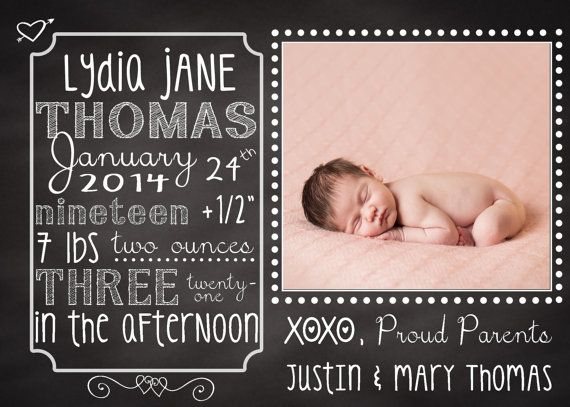 41 best Birth announcements images on Pinterest Baby - announcement template free