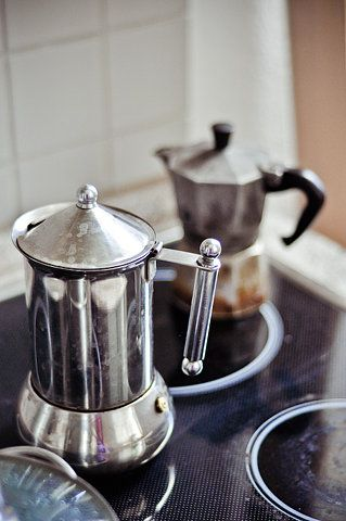 The little pot in the back makes great espresso. You can get them at Bed, Bath & Beyond for about $10!