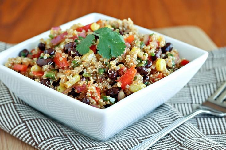 Southwest Quinoa Salad: Fun Recipes, Lunches Recipes, Simpler Dresses, Dresses Oil, Quinoa Salad, Healthy Recipes, Healthy Food, Southwest Quinoa, Favorite Recipes