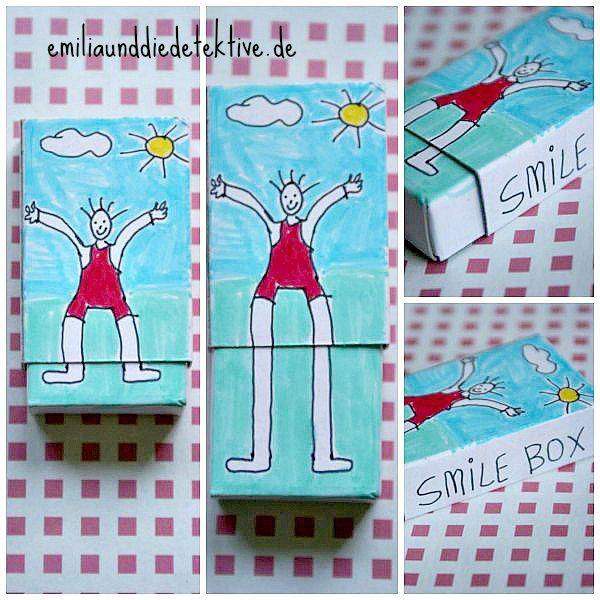 smile box DIY - Geschenkideen für Muttertag, Vatertag, eine Zahndose - alles  aus einer Streichholzschachtel