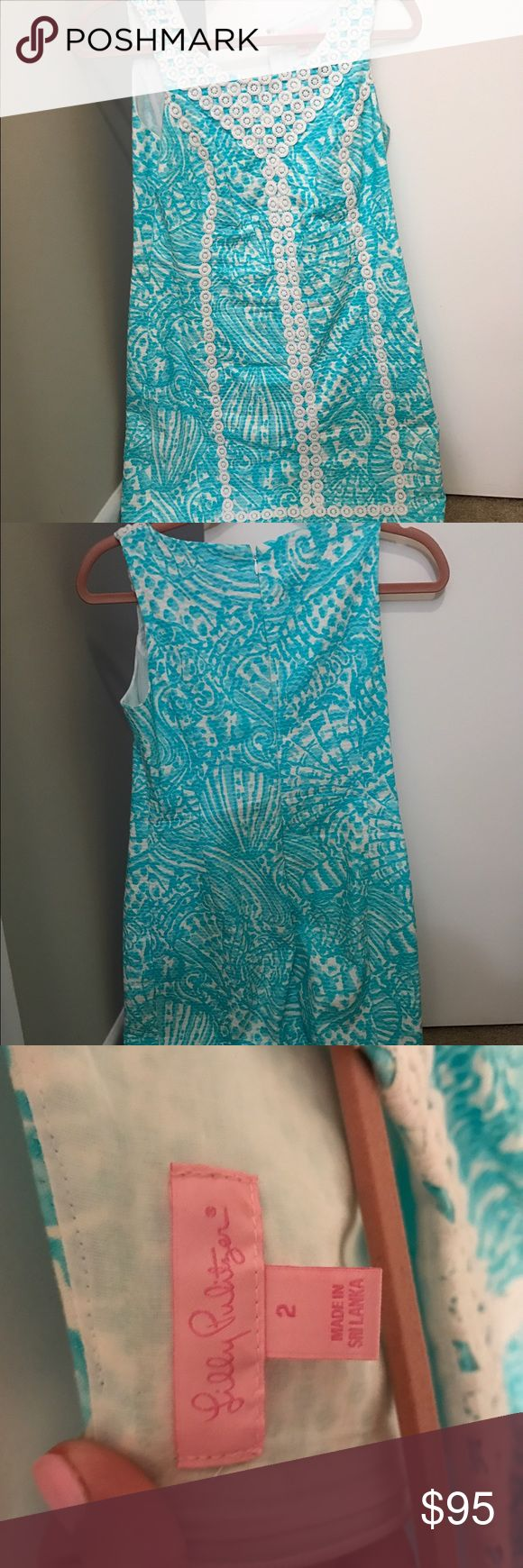 Lilly Pulitzer Dress Lilly Pulitzer Aqua dress. Worn once for a job interview. Perfect condition and will be the perfect spring staple outfit 👗 Lilly Pulitzer Dresses Midi