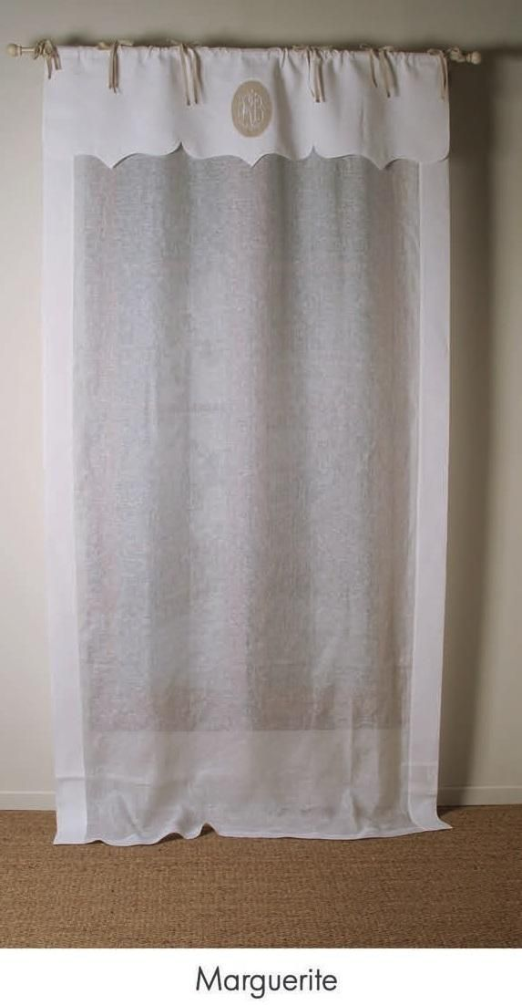 rideau lin blanc mod le marguerite house pinterest ps. Black Bedroom Furniture Sets. Home Design Ideas