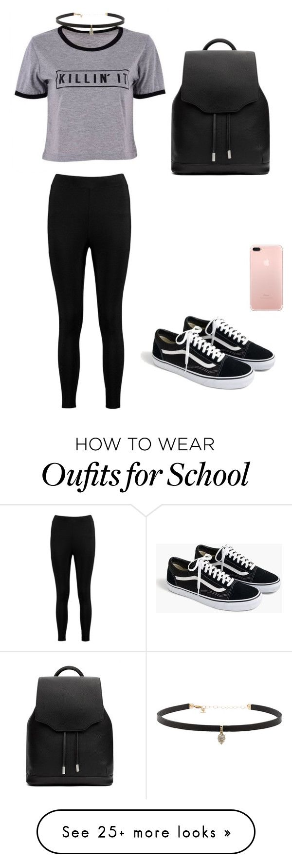 """""""School outfit #1"""" by bobuglo on Polyvore featuring Boohoo, J.Crew, rag & bone and Carbon & Hyde"""