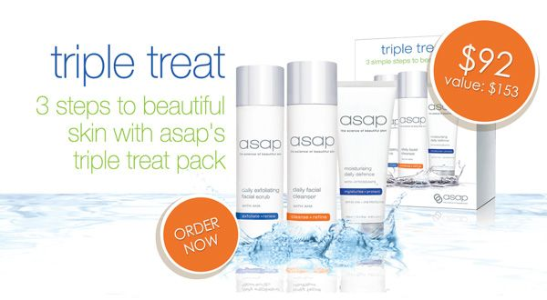 The New Year Pack you all have been waiting for is here! asap triple treat pack is back, strictly for a limited time. Don't miss out, click here to order today. http://www.absoluteskin.com.au/asap-triple-treat-pack-p/asaptt.htm  #asapskincare #absoluteskin #asaptripletreat