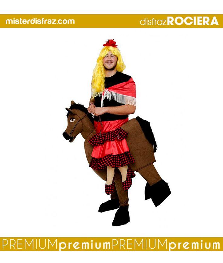 Disfraz de Rociera con Caballo.  Si quieres ir a la Feria de Abril en caballo y no lo tienes, no te preocupes que con este disfraz de Rociera el caballo lo tienes seguro.  #disfraz #disfraces #disfracesoriginales #disfracesdivertidos #disfracescachondos #disfracesgraciosos #disfrazadulto #disfrazrocieraconcaballo #rocieraconcaballo #carnaval #premium #disfracespremium #premiumoriginales #misterdisfraz