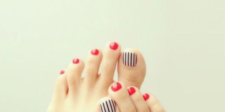 15 Diseños cute para las uñas de los dedos de tus pies