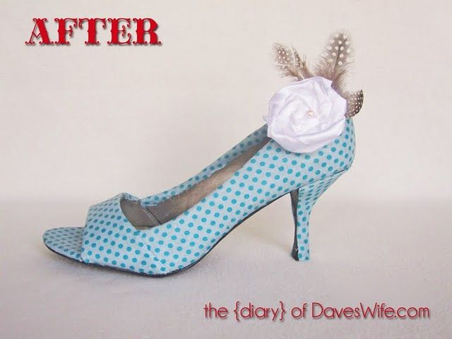 Decoupaged shoes?!? Shut up! I am so doing this to my wedges that are on it's last heels (ha shoe pun) but I loathe to throw away! These are way too cute!!! Love 'em!
