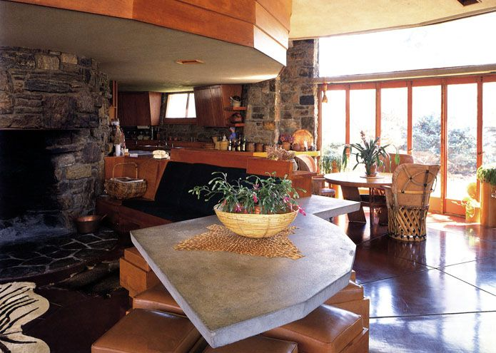 Friedman house. Pleasantville, New York. 1948. Usonian Style. Frank Lloyd Wright.