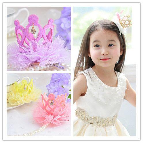Аксессуары для волос корона детская диапазон волос младенца девушки головные уборы Принцесса Хрустальная Корона Лента Для Волос День Рождения Headress 613
