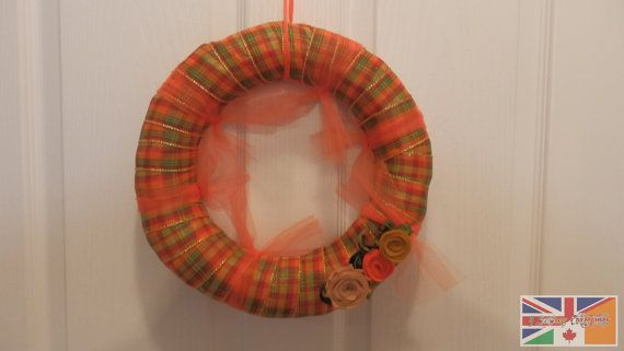 Fall Door wreath in beautiful Autumn by 4SeasonsCollectables, $86.91