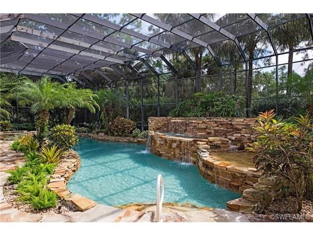 Rock Pool With Waterfall Naples Florida Outdoor Living