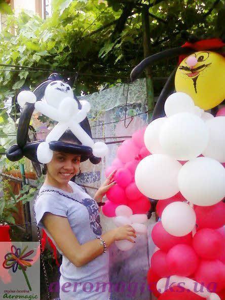 Пиратская шапка из воздушных шаров