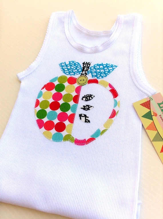 34 best baby singlets images on pinterest baby sewing sewing baby tank baby singlet unisex clothing apple applique 1500 via etsy negle Images