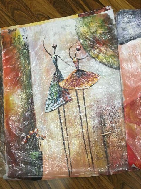 Ballet Dancer Imagem para Sala de estar Decoração de Casa Pintado À Mão Pintura A Óleo Abstrata Moderna Da Lona na Parede Presente Da Arte Sem Moldura Loja Online | aliexpress móvel