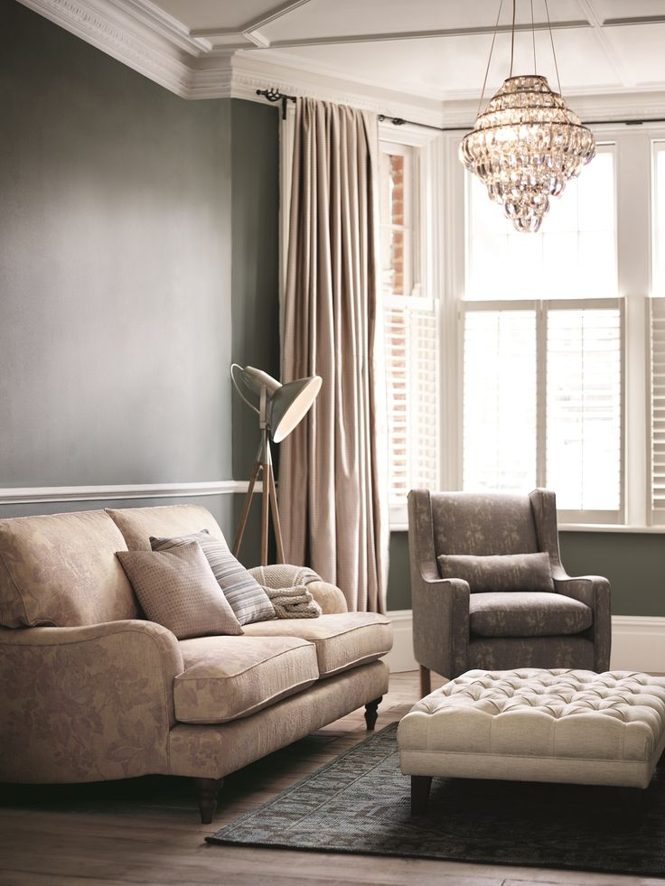 With compact sofas and a traditional armchair, your living will ooze