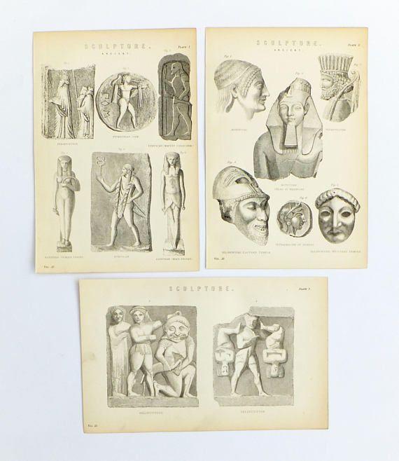 Sculpture Black and White Prints Antique Prints Artworks