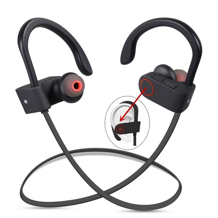 DXVROC Bluetooth Headphones Wireless Sports Headphone Sweatproof Earphones Noise Cancelling Headsets with Mic Earbud Running GYM //Price: $21.19//     #shop