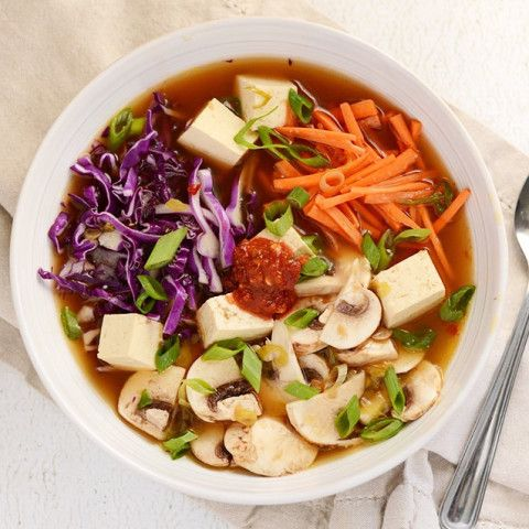 - Hot and Sour Vegetable Soup with Tofu
