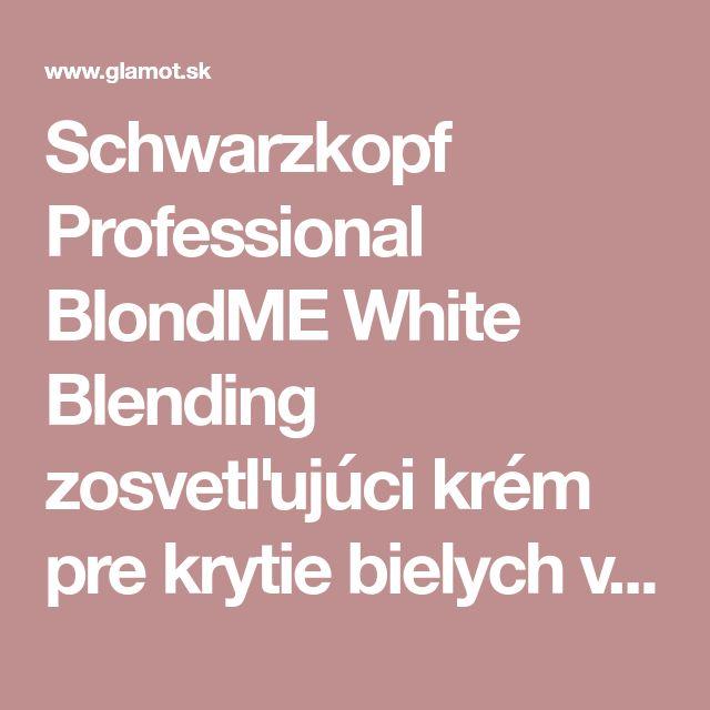 Schwarzkopf Professional BlondME White Blending zosvetľujúci krém pre krytie bielych vlasov | glamot.sk