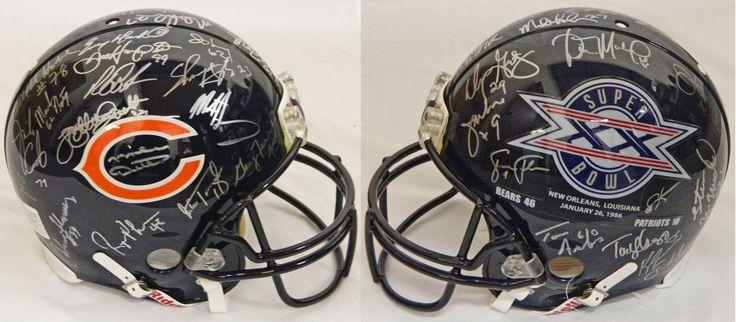 1985 Chicago Bears Team Signed Chicago Bears / Super Bowl XX Champs Logo Authentic Riddell Helmet - Schwartz COA