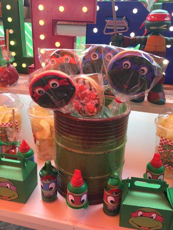 tortugas ninja mesa de dulces tortugas ninja candy bar turtles dulceros tortugas…